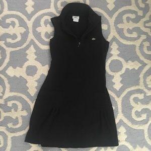Lacoste Sleeveless Black Dress Size 38 XS